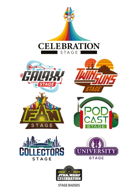 Star Wars Celebration Chicago 2019 - Stage Logos and Badge Art Poster
