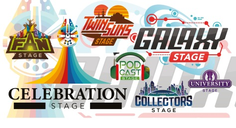 Star Wars Celebration Chicago 2019 - Stage Logos and Badges