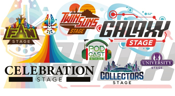Star Wars Celebration Chicago 2019 - Stage Logos and Badges