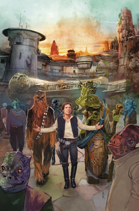 Star Wars Galaxy's Edge Issue 1 Marvel Cover Art