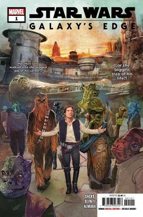 Star Wars Galaxy's Edge Issue 1 Marvel Cover BY Rod Reis