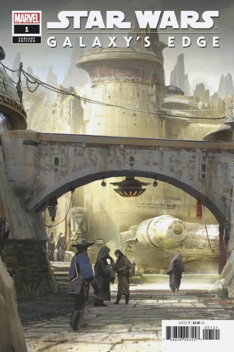 Star Wars Galaxy's Edge Issue 1 Marvel Variant Cover Art by Rod Reis