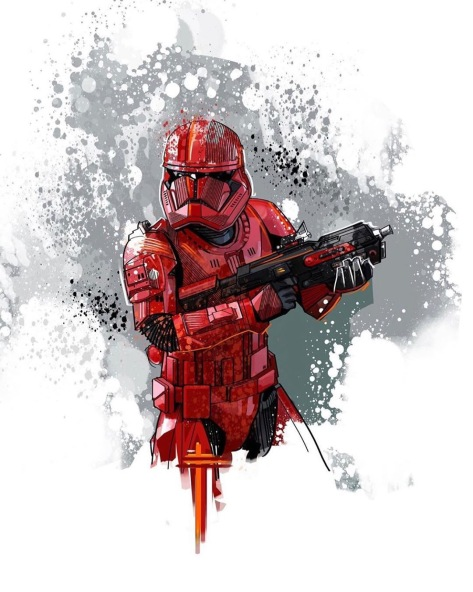 Star Wars The Rise of Skywalker Red Sith Trooper Hot Toys 3