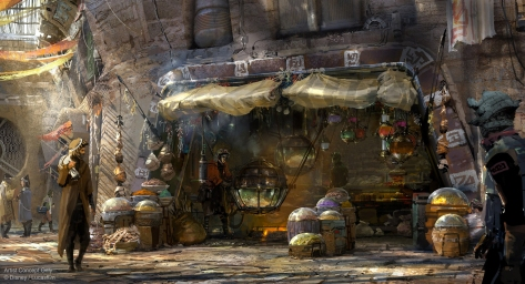 Concept Art for Kat Saka's Kettle in Star Wars - Galaxy's Edge