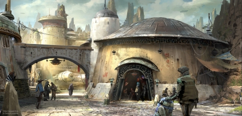 Concept art of Star Wars Galaxy's Edge