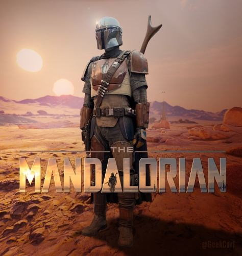 Star Wars The Mandalorian - Fan Art Poster by GeekCarl