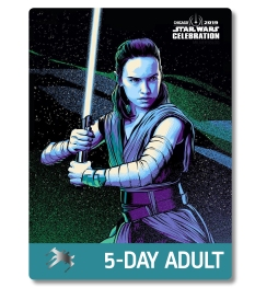 Star Wars Celebration 2019 Chicago 5 Day Adult Rey Badge Pass Art