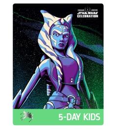 Star Wars Celebration 2019 Chicago 5 Day Kids Ahsoka Tano Badge Pass Art