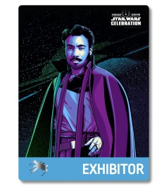 Star Wars Celebration 2019 Chicago Exhibitor Lando Calrissian Badge Pass