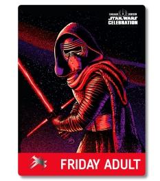 Star Wars Celebration 2019 Chicago Friday Adult Kylo Ren Badge Pass Art