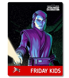 Star Wars Celebration 2019 Chicago Friday Kids Anakin Skywalker Badge Pass Art
