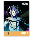 Star Wars Celebration 2019 Chicago Media Queen Amidala Badge Pass