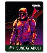 Star Wars Celebration 2019 Chicago Sunday Adult The Mandalorian Badge Pass Art