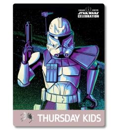 Star Wars Celebration 2019 Chicago Thursday Kids Captain Rex Badge Pass Art