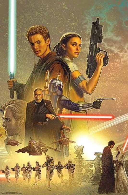 Star Wars Celebration Complete Mural Attack of the Clones Section