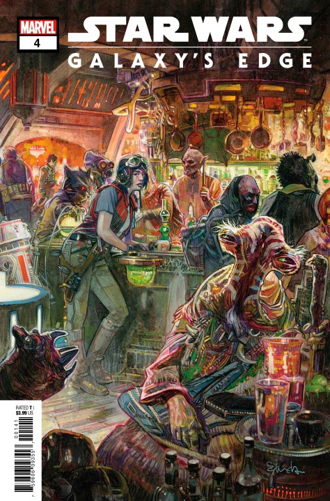 Star Wars Galaxy's Edge Issue 4 Marvel Cover by Tommy Lee Edwards