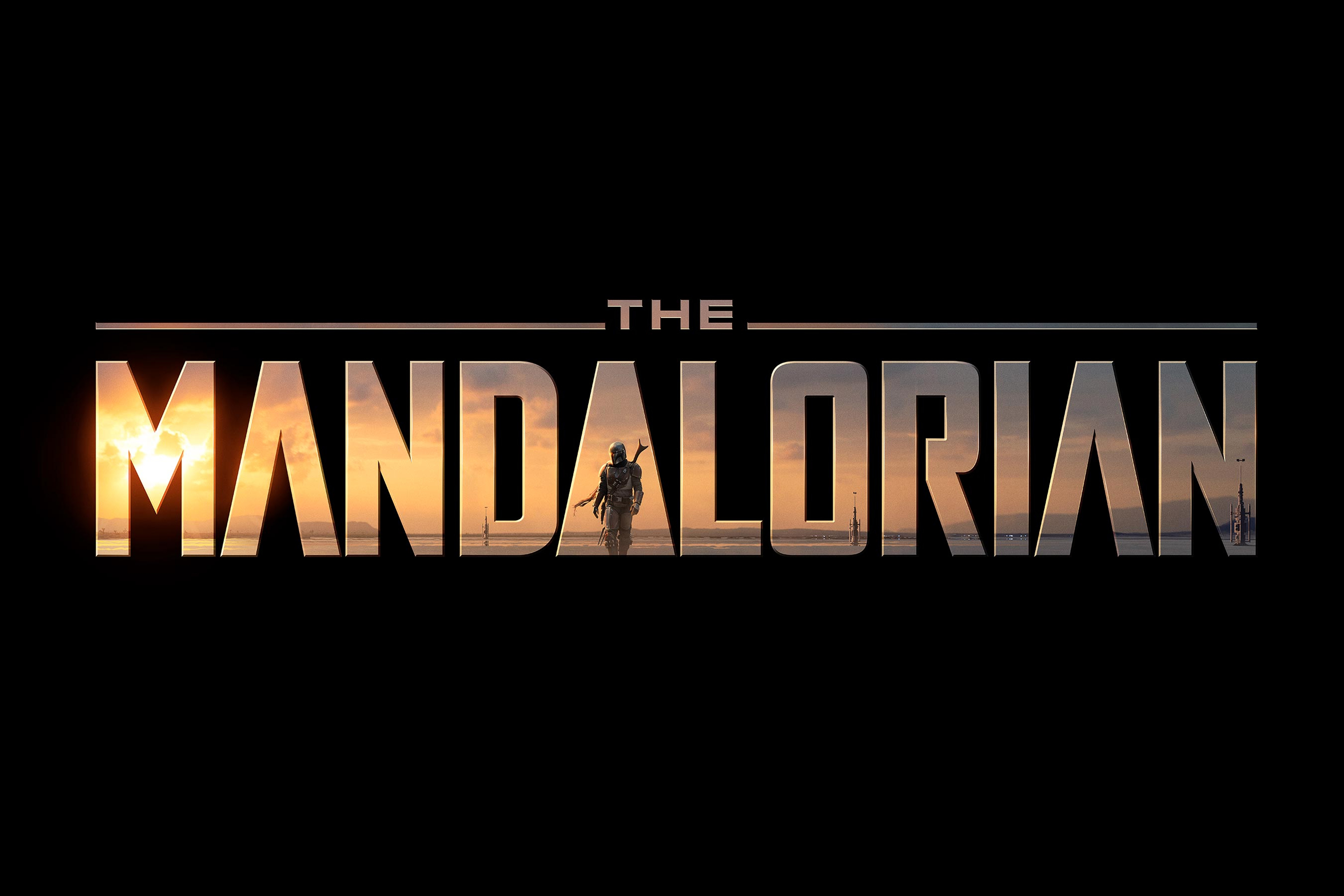 Star Wars The Mandalorian Hi Res Black Logo Geek Carl