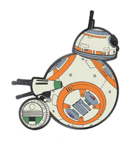 Star Wars The Rise of Skywalker Enamel Pin Badges BB8 and D-O by Loungefly
