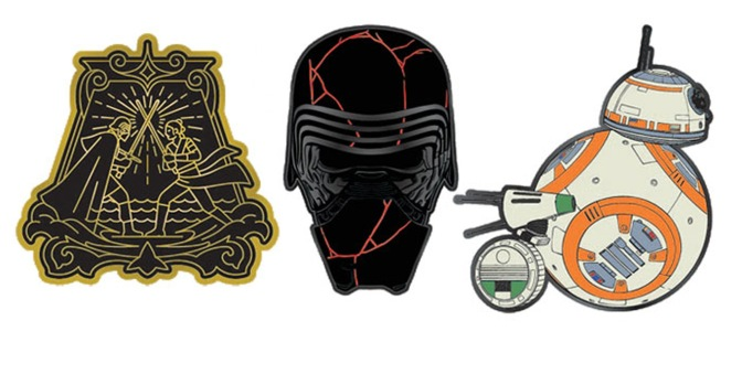 Star Wars The Rise of Skywalker Enamel Pin Badges by Loungefly Banner