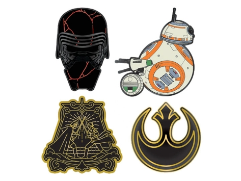 Star Wars The Rise of Skywalker Enamel Pin Badges by Loungefly