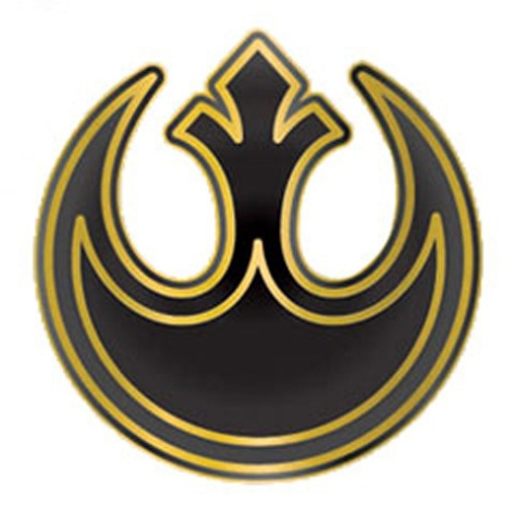 Star Wars The Rise of Skywalker Rebellion Logo Enamel Pin Badge by Loungefly