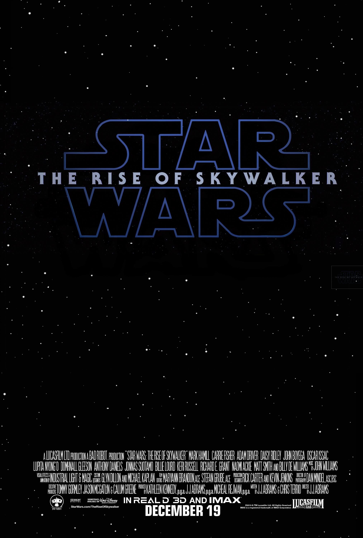 Star Wars The Rise Of Skywalker Teaser Poster Geek Carl