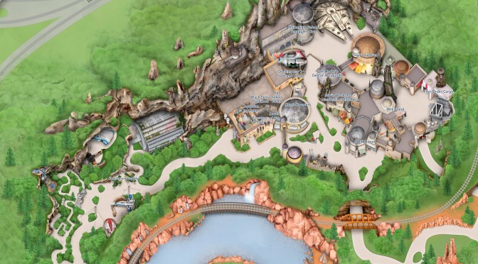 Star Wars: Galaxy's Edge Disneyland Park Map 'Ultra Hi-Resolution'