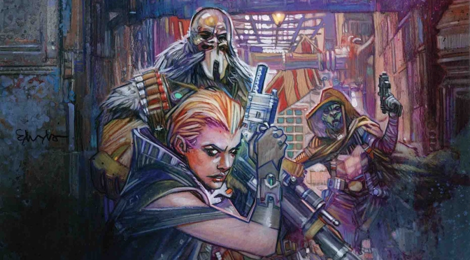 Star Wars Galaxy's Edge Issue 5 Marvel Clean Cover Art by Tommy Lee Edwards Header