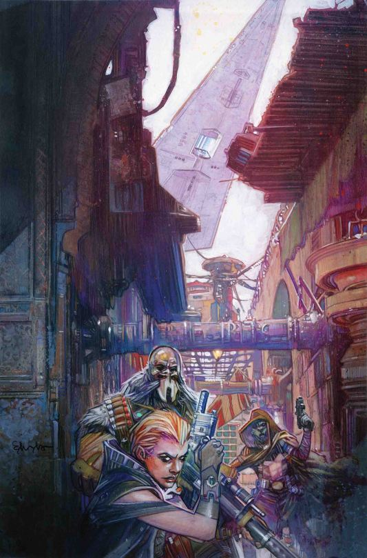 Star Wars Galaxy's Edge Issue 5 Marvel Clean Cover Art by Tommy Lee Edwards