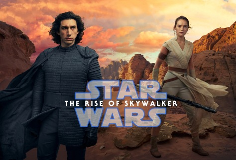 Star Wars - The Rise of Skywalker Textless Vanity Fair Kylo Ren and Rey Cover Combined