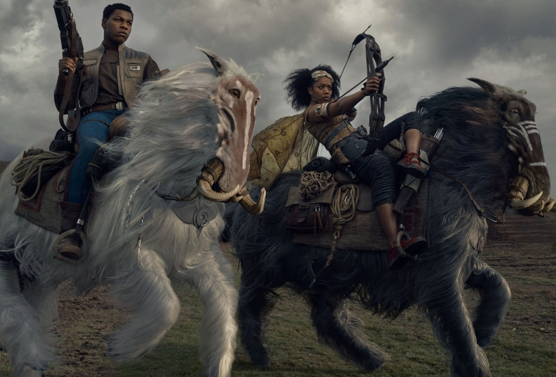 Star Wars - The Rise of Skywalker Vanity Fair Finn and Jannah played by Naomi Ackie on Orbaks Exclusive Hi Resolution Images and Photos by Annie Leibovitz