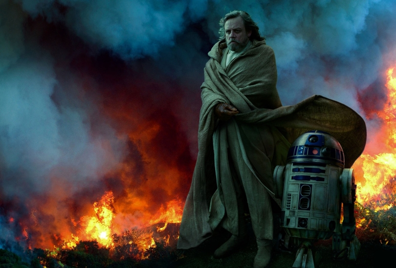 Star Wars - The Rise of Skywalker Vanity Fair From the Ashes Luke and R2-D2 Exclusive Hi Resolution Image by Annie Leibovitz