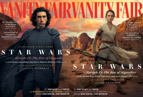 Star Wars - The Rise of Skywalker Vanity Fair Kylo Ren and Rey Cover Exclusive Hi Resolution Image by Annie Leibovitz