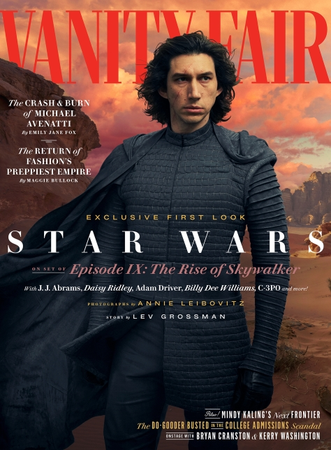 Star Wars - The Rise of Skywalker Vanity Fair Kylo Ren Cover Exclusive Hi Resolution Image by Annie Leibovitz
