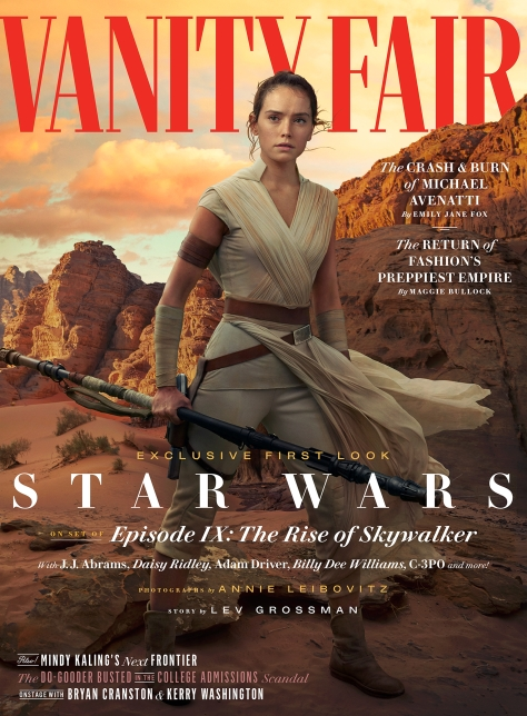 Star Wars - The Rise of Skywalker Vanity Fair Rey Cover Exclusive Hi Resolution Photo by Annie Leibovitz