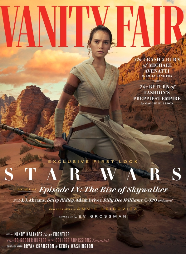 Star Wars - The Rise of Skywalker Vanity Fair Rey Cover Exclusive Hi Resolution Photo by Annie Leibovitz