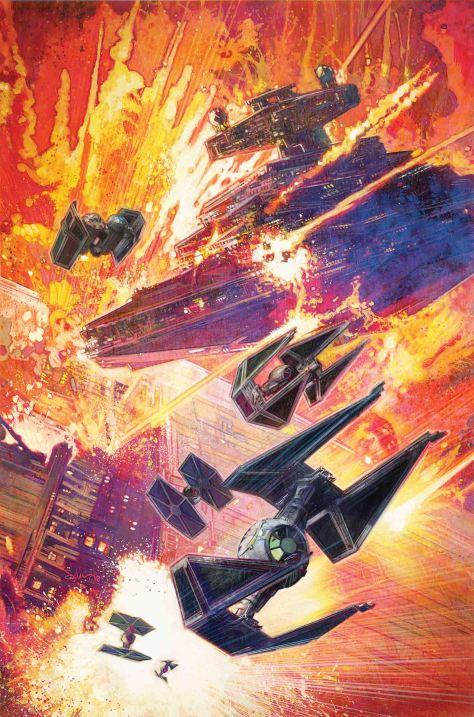 Star Wars Tie Fighter Issue 5 The Empire Strikes! Cover Art by Tommy Lee Edwards