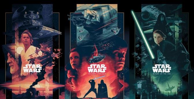 The Star Wars Saga 'Triptych' Art By John Guydo