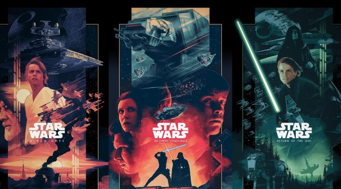 The Star Wars Saga 'Triptych' Art By John Guydo