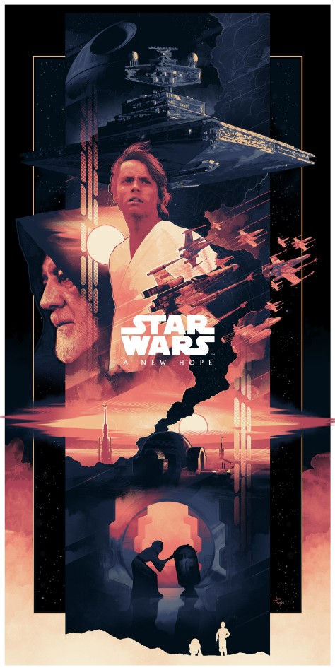 The Star Wars Saga Triptych Art By John Guydo Star wars A New Hope