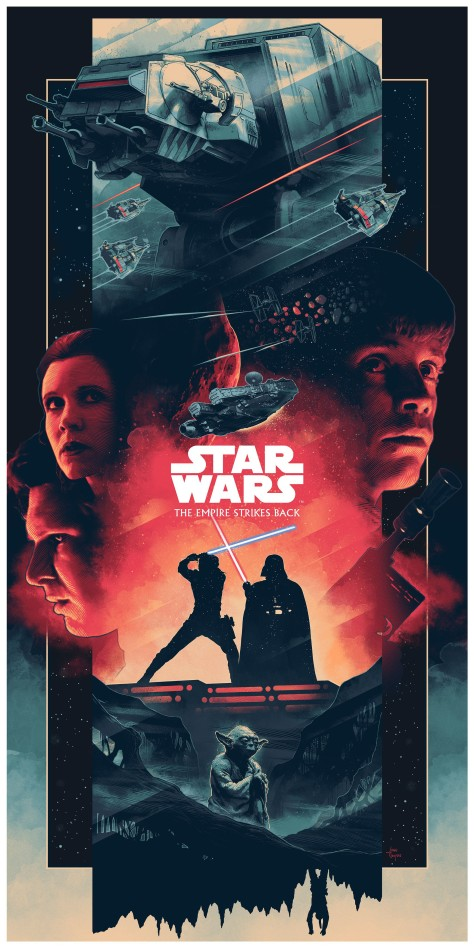 The Star Wars Saga Triptych Art By John Guydo The Empire Strikes Back