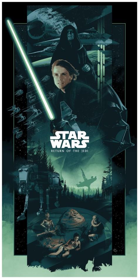 The Star Wars Saga Triptych Art By John Guydo The Return of the Jedi