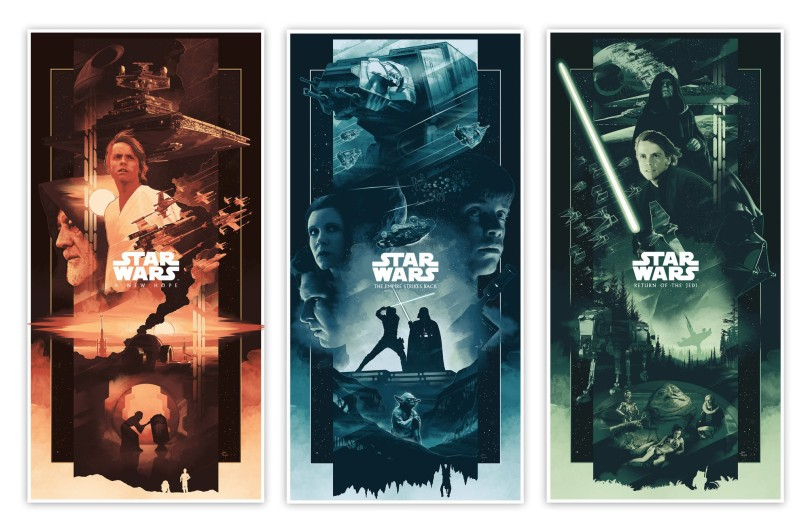 The Star Wars Saga Triptych Art By John Guydo Variant
