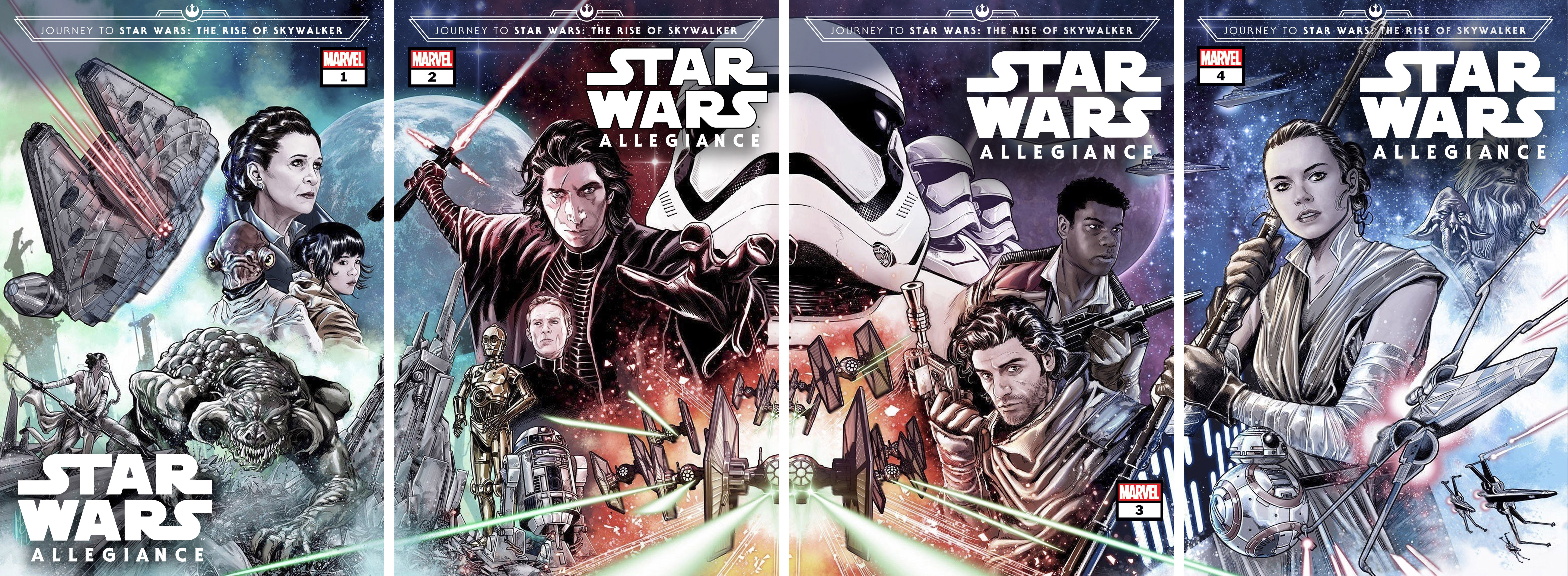Journey To Star Wars The Rise Of Skywalker Allegiance Marvel Issues 1 To 4 Geek Carl