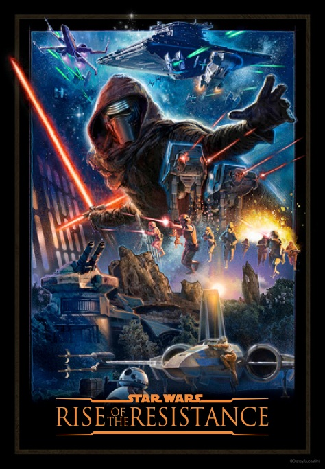 Star Wars Galaxy's Edge - Rise of the Resistance Poster