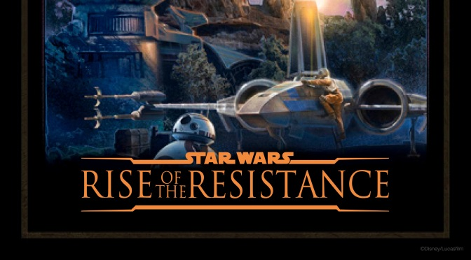 Star Wars: Galaxy's Edge – Rise of the Resistance Poster