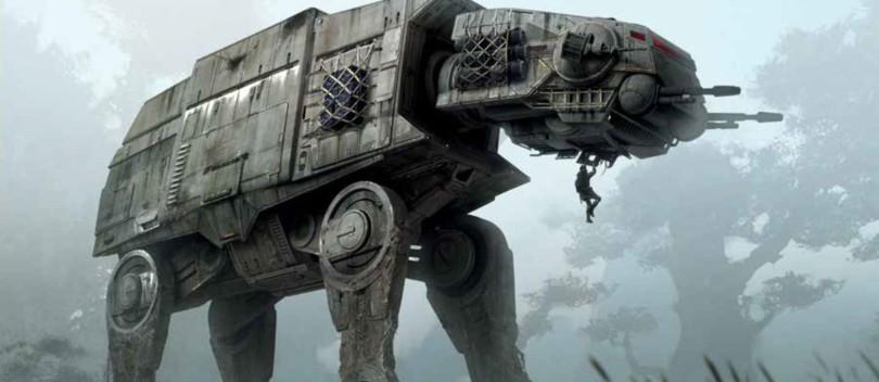 Art of Star Wars Jedi: Fallen Order Concept Art - AT-AT Walker
