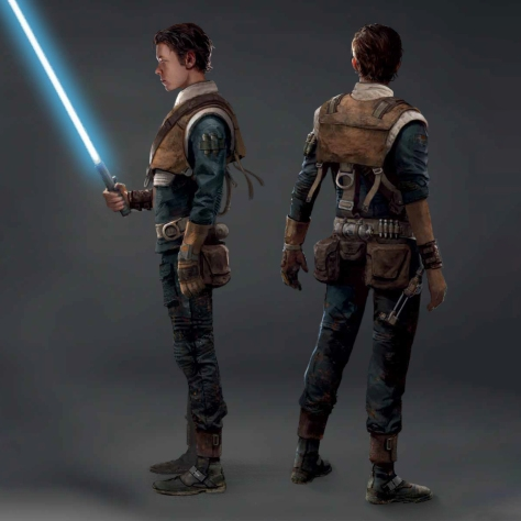 Art of Star Wars Jedi: Fallen Order Concept Art - Cal Kestis