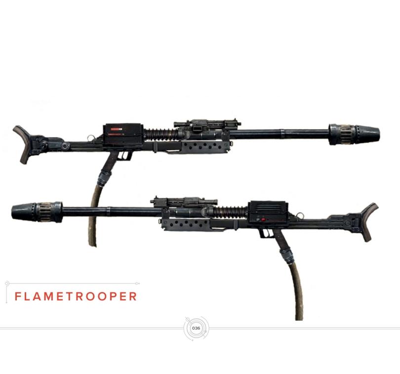 Art of Star Wars Jedi: Fallen Order Concept Art - Flametrooper Weapons