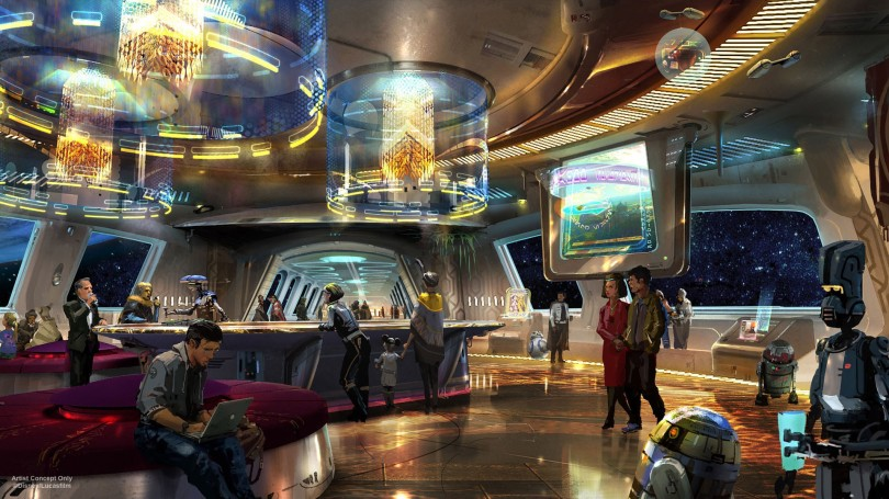 Star Wars- Galactic Starcruiser Hotel – Lounge Bar New Concept Art